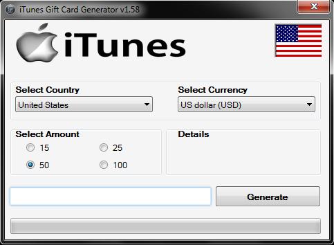 iTunes Gift Card Generator   Working Code Generators